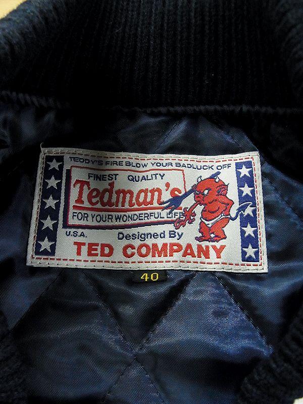 エフ商会 TEDMAN(テッドマン) TEDMAN 限定200着 シリアルナンバー1番 TDJ-17000 スタジャン スタジアムジャケット 44 XLサイズ
