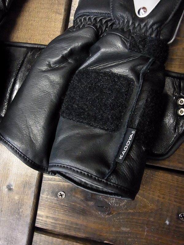 カドヤ(KADOYA)ゴッドスピード HAMMER GLOVE-GAUNTLET ハンマーグローブガントレット ウインターグローブ ブラック/シルバー
