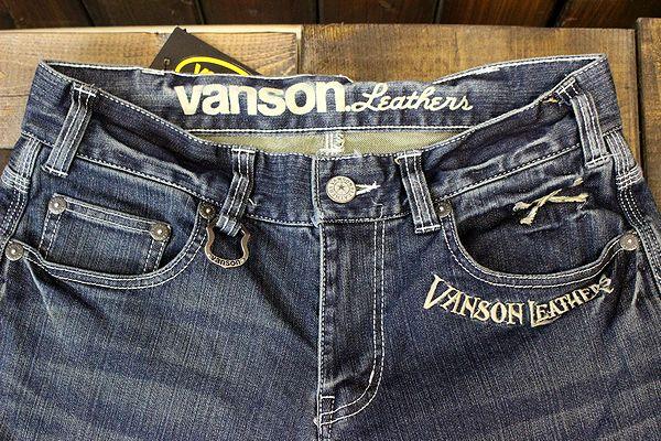 VANSON バンソン SP-B-16 ストレッチスキニーデニム スカルジーンズ
