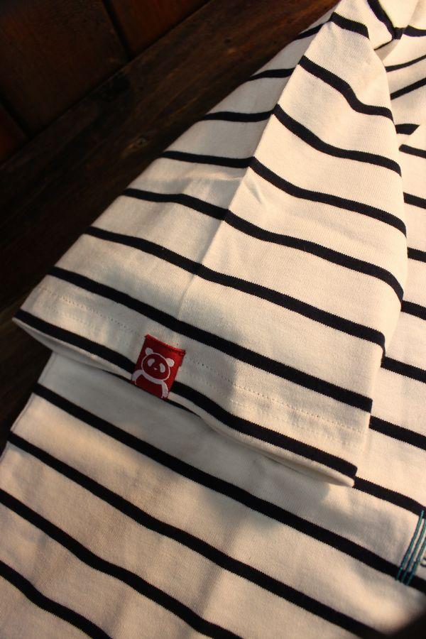 PANDIESTA JAPAN パンディエスタ 520051 サーフパンダボーダーTee ホワイト