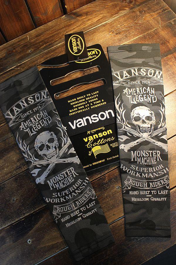 VANSON バンソン NVAS-2101 ドライアームシェードロング スカル ブラックカモ