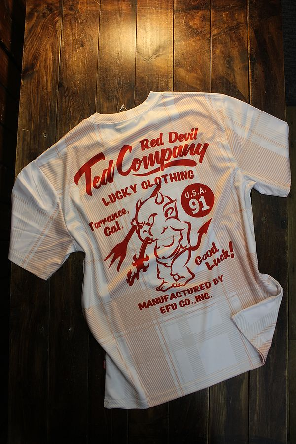 エフ商会 TEDMAN テッドマン TDRYT-900 チェックドライTシャツ ピンク