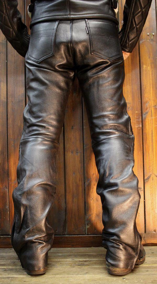 KADOYA(カドヤ) K'S LEATHER TCS-PANTS 2 レザーパンツ 柔らかい革で膝カップ入り! ライダースパンツ