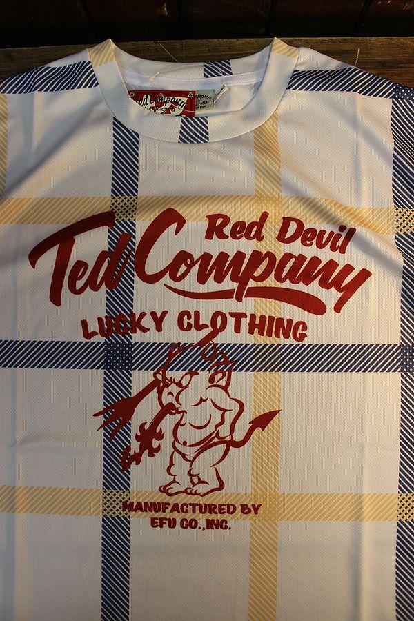 エフ商会 TEDMAN テッドマン TDRYT-900 チェックドライTシャツ イエロー