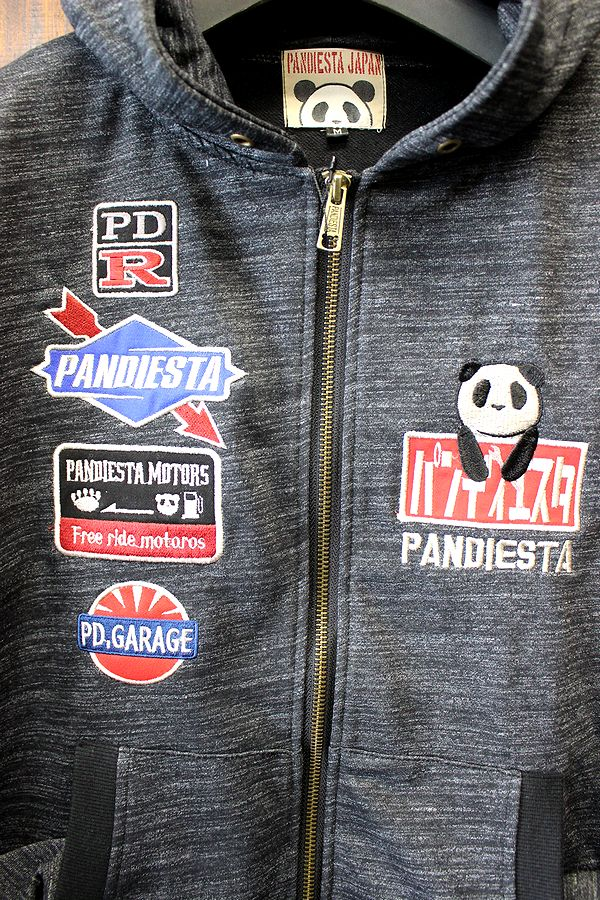 PANDIESTA JAPAN 熊猫謹製 パンディエスタ 箱スカ ハコ乗りパンダ ZIPパーカー 578211