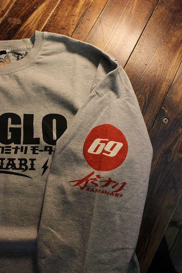 エフ商会 カミナリ KMLT-213 セドリック・グロリア330 長袖Tシャツ ロンTee アッシュ