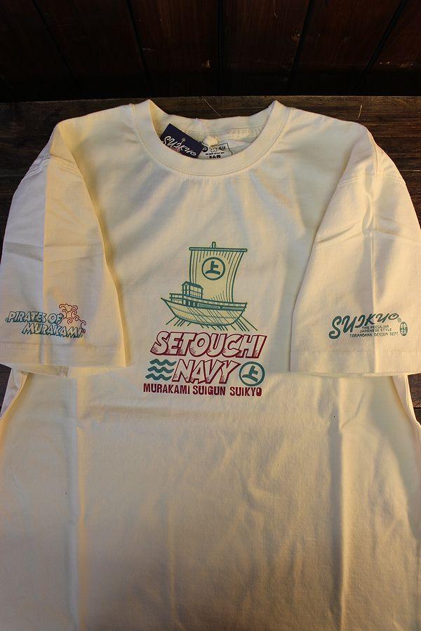 エフ商会 粋狂 すいきょう SYT-202 村上水軍 Tシャツ オフホワイト