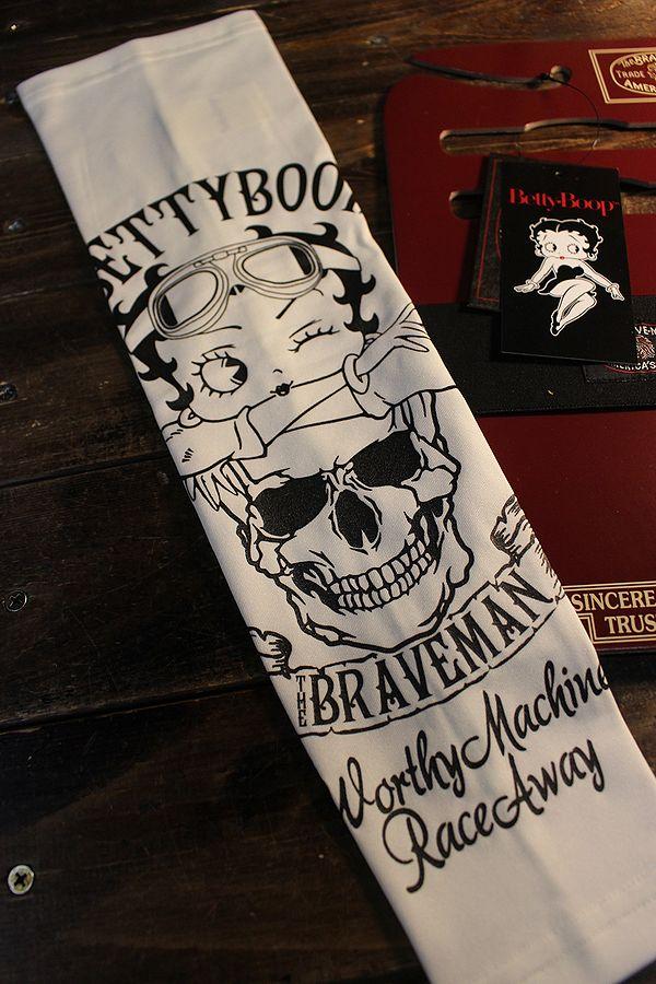 The BRAVE-MAN×BETTY BOOP ベティ BBB-2124 ドライアームシェード スカル オフホワイト