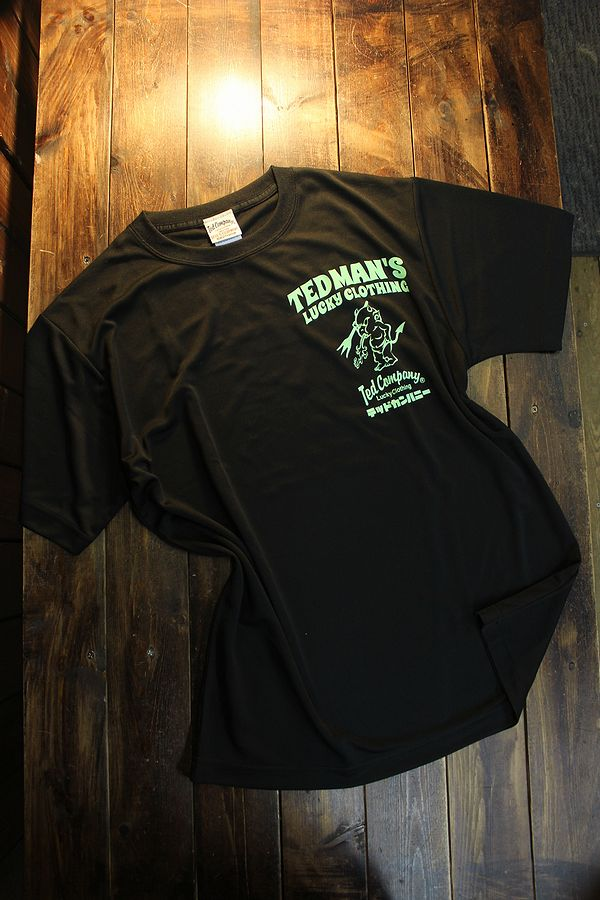 エフ商会 TEDMAN テッドマン TDRYT-1100 シルキードライTシャツ ブラック