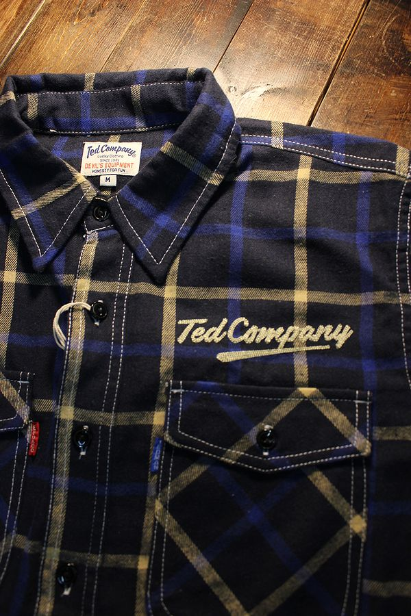エフ商会 TEDMAN(テッドマン) TNS-700 TEDMANネルシャツ NAV/BLU