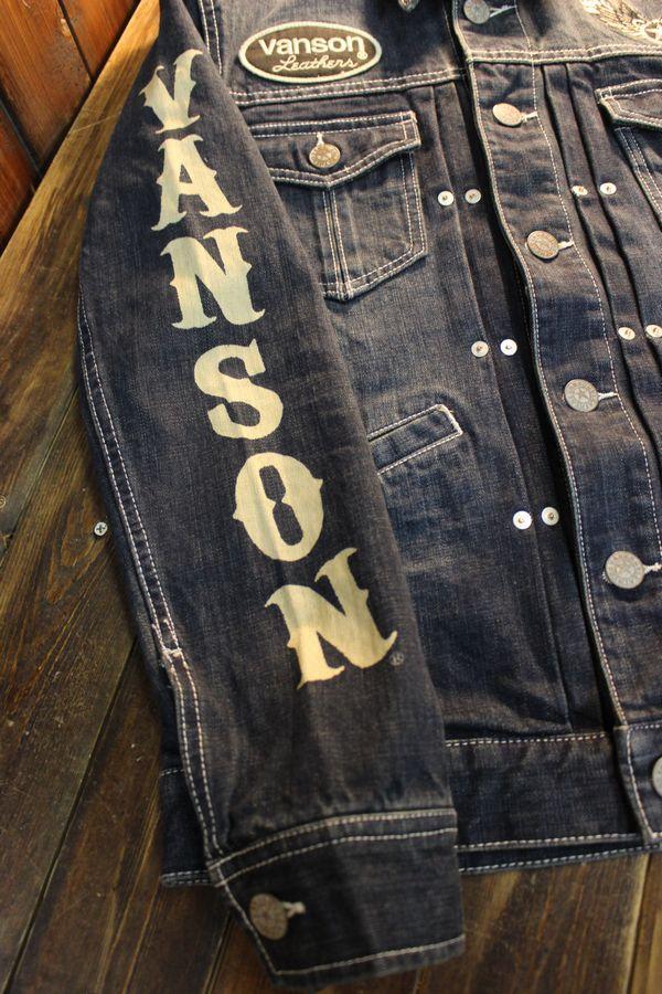VANSON バンソン  NVSL-2102 Gジャン インディゴ(ワンウォッシュ)