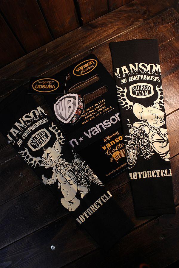 VANSON×Tom and Jerry トムとジェリーコラボ TJV-2115 ドライアームシェードロング ブラック