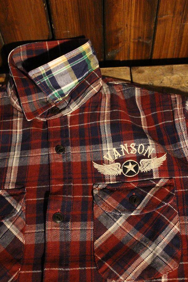 VANSON(バンソン) NVSL-810 ヘビーネルチェックシャツ ワンスター