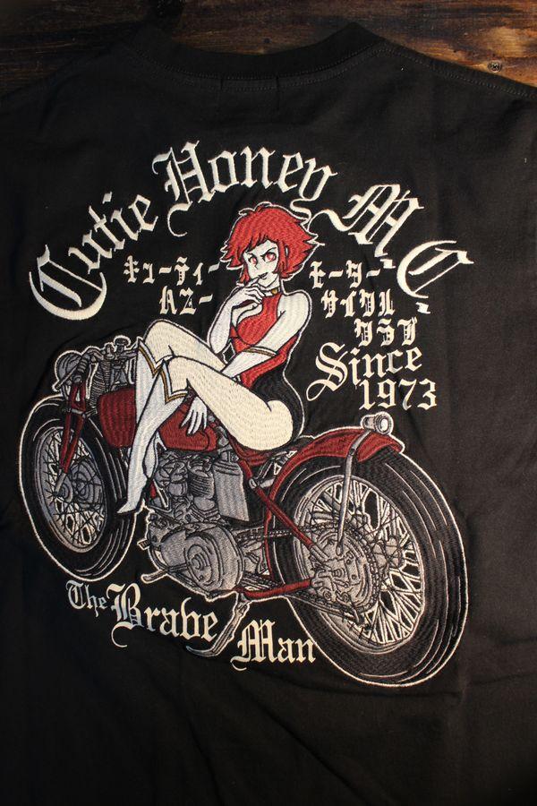 The BRAVE-MAN×CUTIE HONEY キューティハニー CHB-2002 天竺半袖Tee Tシャツ ブラック