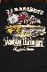 VANSON×CROWS×WORST 武装戦線 コラボ CRV-913 天竺刺繍半袖Tee デスラビット ブラック