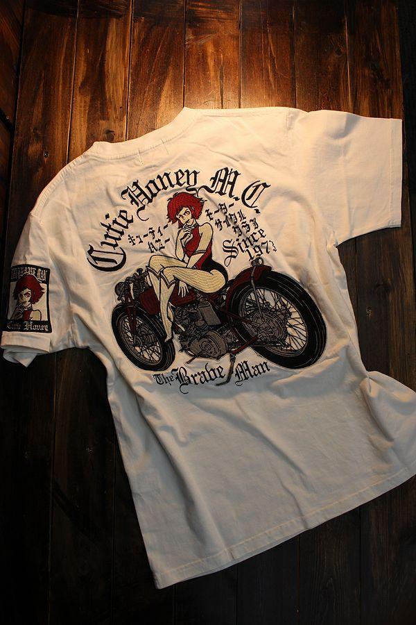 The BRAVE-MAN×CUTIE HONEY キューティハニー CHB-2002 天竺半袖Tee Tシャツ オフホワイト