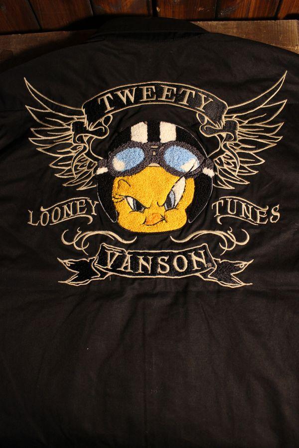 VANSON×Looney Tunes バンソン×ルニーテューンズ LTV-815 半袖シャツ トゥイーティ
