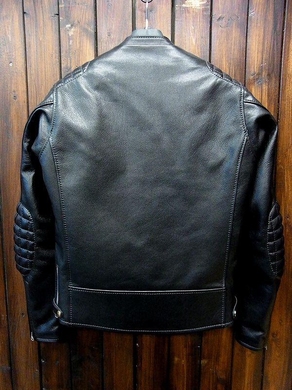 KADOYA(カドヤ) SPEED-TWIN/ MODEL-0 レザージャケット 革ジャン ライダース ゴートスキン ブラック