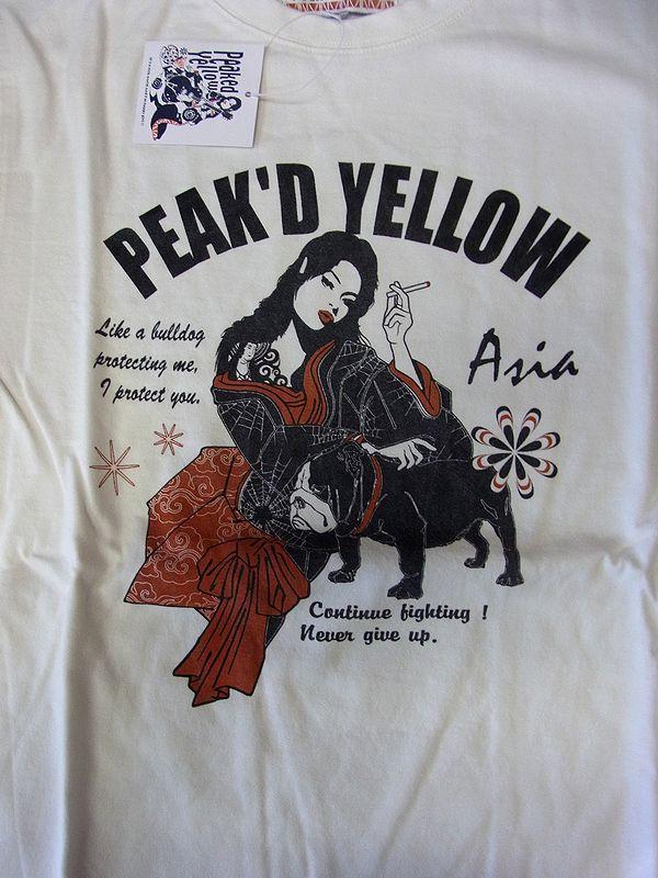 エフ商会 PEAK'D YELLOW ピークドイエロー PYLT-115 ブルドック ロングスリーブTシャツ 長袖Tシャツ ロンT 38