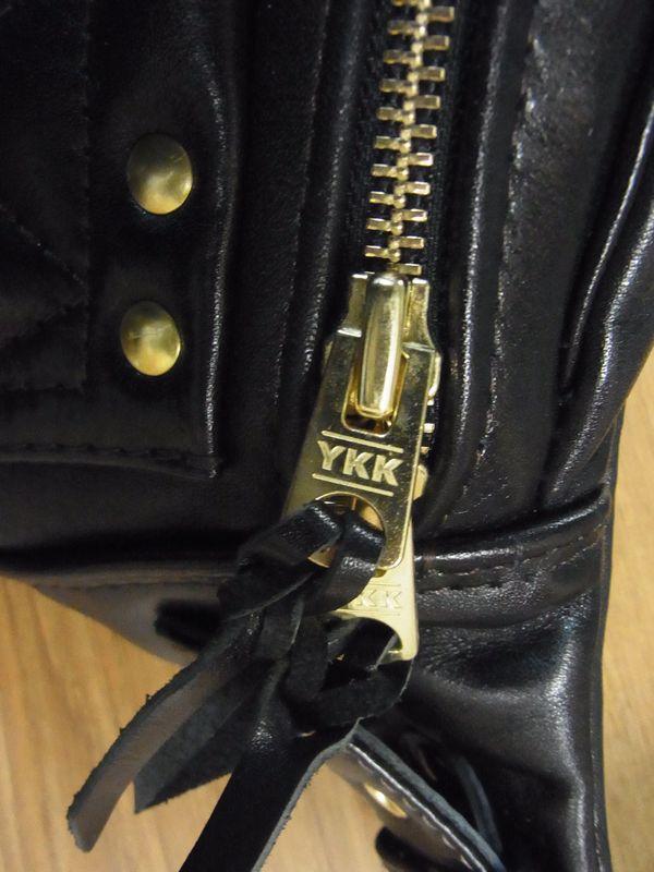 KADOYA×Historyコラボ HFG/SHOULDER BAG-PTD へッドファクトリーショルダーバッグ・パテッド 真鍮・ゴールド 専用ハーネス付き