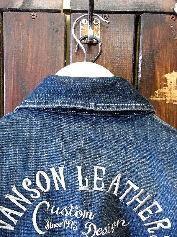 VANSON バンソン デニム刺繍オールインワン つなぎ フライングスター nvao-301