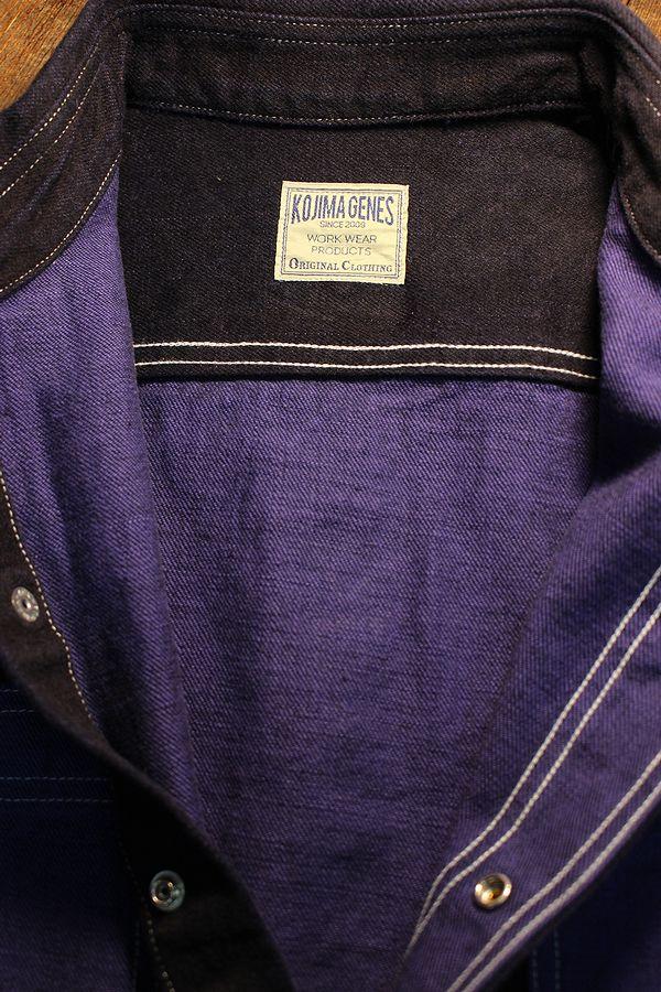 KOJIMA GENES 児島ジーンズ RNB-2016 オーバーダイデニムワークシャツ ブルー