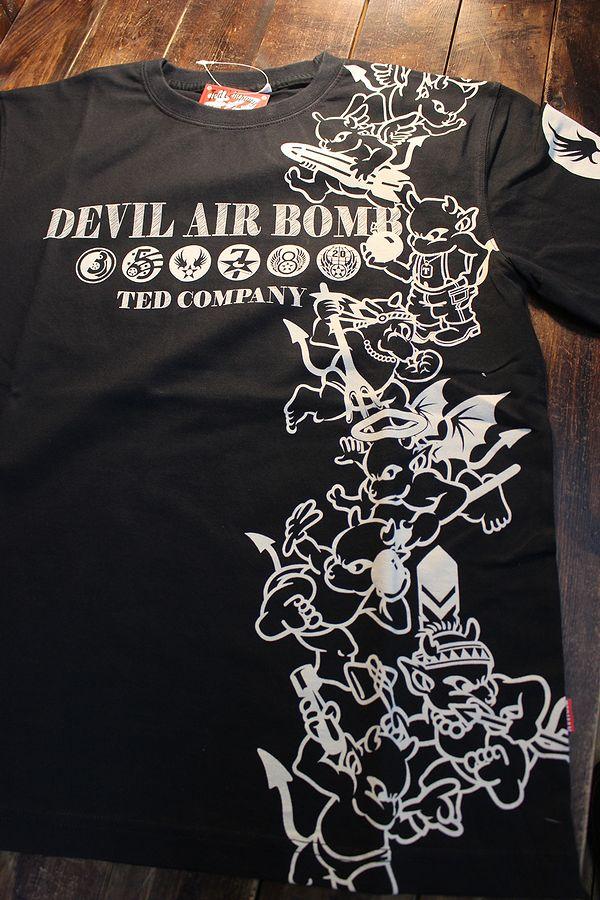 エフ商会 TEDMAN テッドマン TDSS-528 DEVIL AIR BOMB コットンTee Tシャツ ブラック