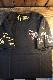 VANSON バンソン NVST-2110 天竺半袖Tee イーグル コットンTシャツ ブラック