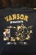 VANSON×Tom and Jerry トムとジェリーコラボ TJV-2129 天竺ロンTee 長袖Tシャツ ブラック