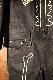VANSON バンソン NVAO-801 ツイルオールインワン ツナギ ブラックB ボーン 骨
