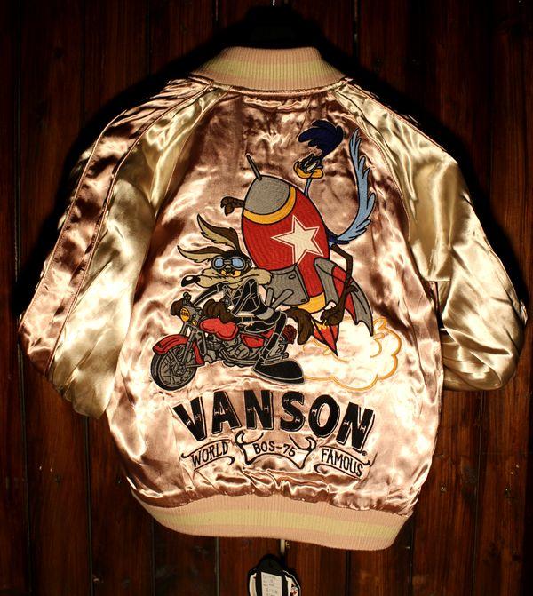 VANSON×Looney Tunes バンソン×ルニーテューンズ LTV-833 レーヨンリバーシブルスカジャン