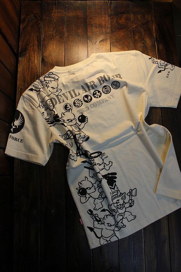 エフ商会 TEDMAN テッドマン TDSS-528 DEVIL AIR BOMB コットンTee Tシャツ オフホワイト