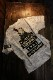 VANSON×CROWS×WORST 武装戦線 コラボ CRV-2111 天竺半袖Tee デスラビット 刺繍・ツイルプリント貼り付け ホワイトカモ