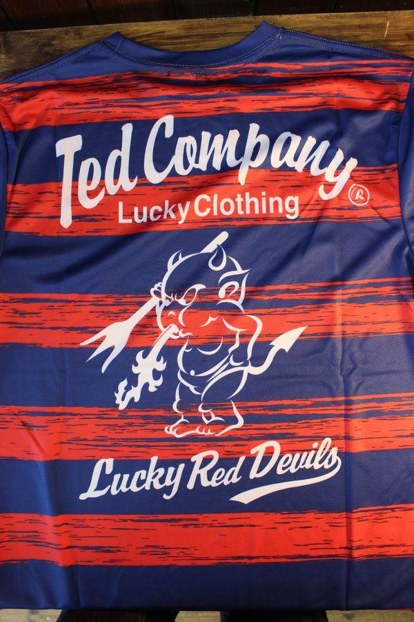 エフ商会 TEDMAN テッドマン TDRYT-500 ドライTシャツ レッドネイビー