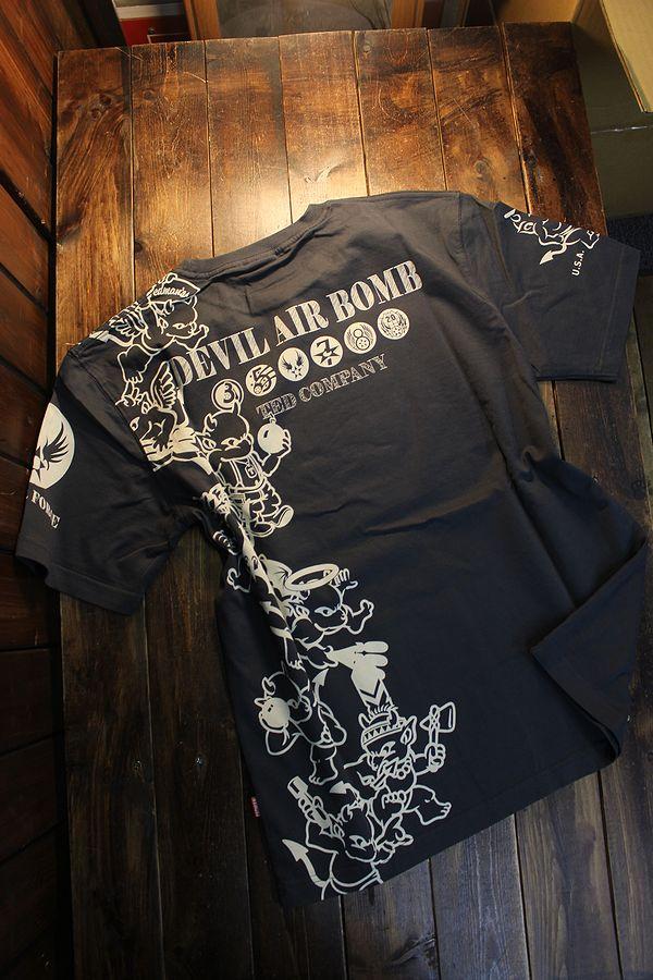 エフ商会 TEDMAN テッドマン TDSS-528 DEVIL AIR BOMB コットンTee Tシャツ ネイビー