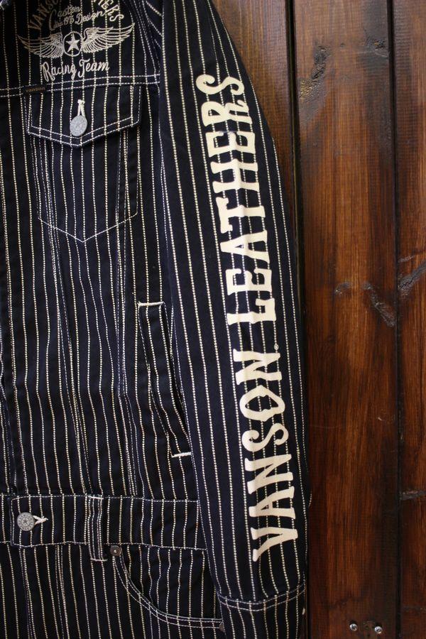 VANSON バンソン NVAO-301NC オールインワン 刺繍ツナギ ウォバッシュ