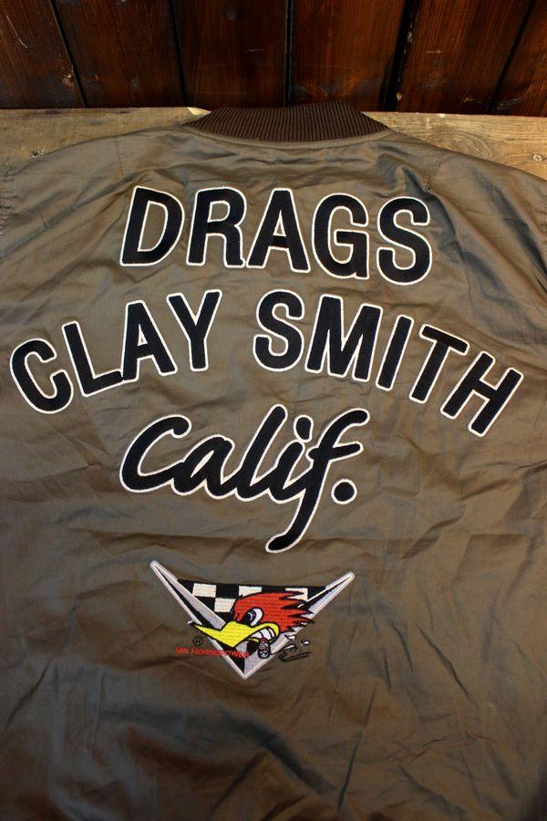 CLAY SMITH(クレイスミス) CSY-8302 TOMDOGS MA-1スタイル コットンジャケット チャコール