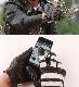GMG ディンマーケット GMG-09 COW HIDE GLOVE レザーグローブ ボーダー チャコールグレー&ブラック