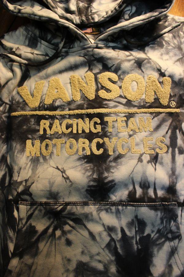 VANSON×Tom and Jerry トムとジェリーコラボ TJV-2004 裏毛プルパーカー タイダイ