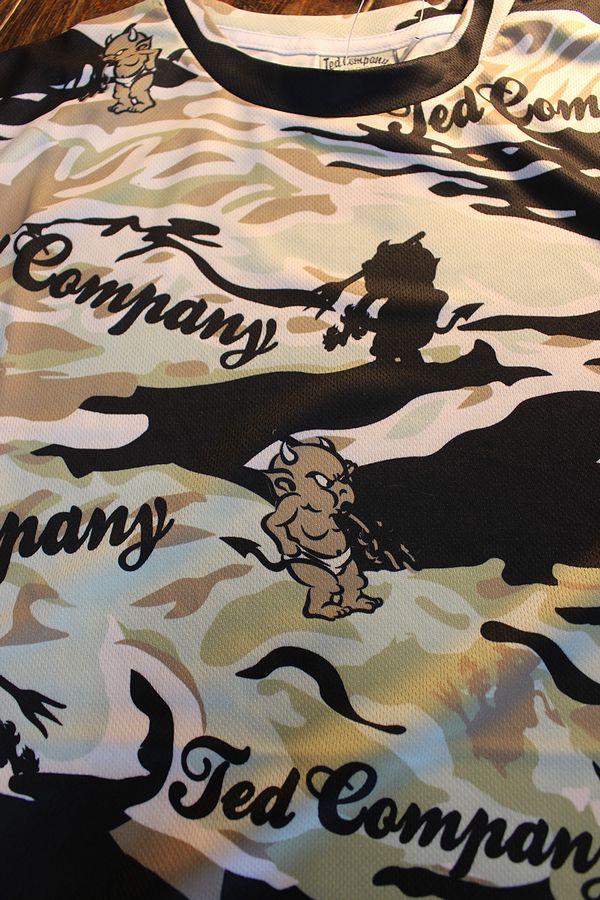 エフ商会 TEDMAN テッドマン TDRYT-600 ドライTシャツ ブラックカモ