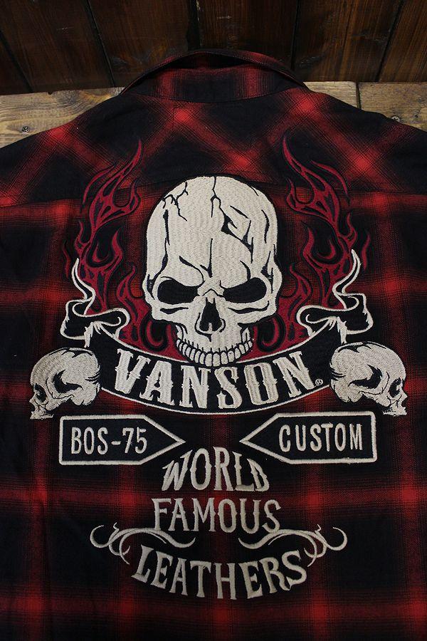VANSON(バンソン) オンブレ チェックシャツ NVSL-704