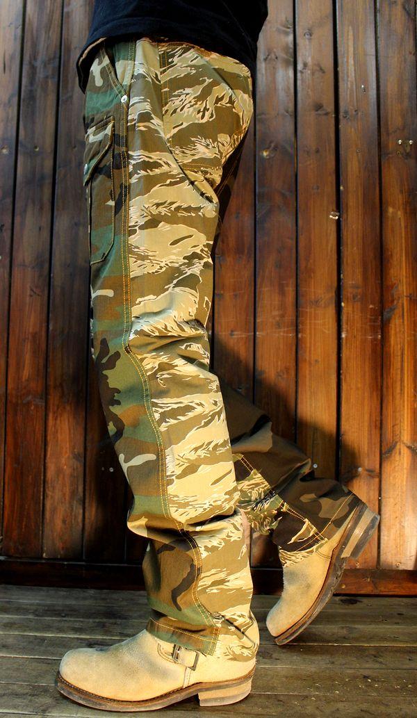 KOJIMA GENES 児島ジーンズ RNB-1226 マルチカモフラージュコンボパンツ カモフラ