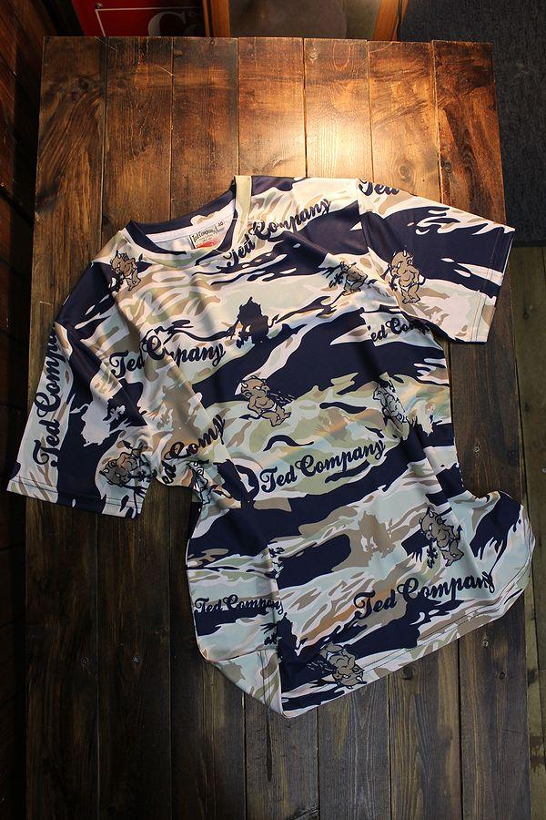 エフ商会 TEDMAN テッドマン TDRYT-600 ドライTシャツ ネイビーカモ