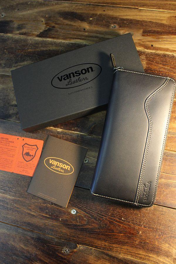 VANSON バンソン VP-115-10 ラウンドジップウォレット 長財布 ブラック
