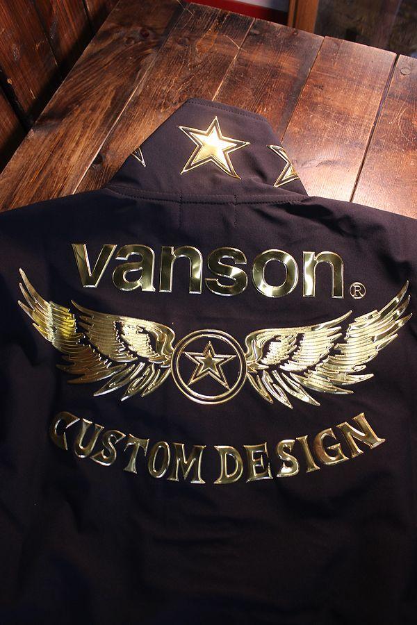VANSON バンソン  NVSZ-2103 三層ストレッチフロントZipハイネック ブラック
