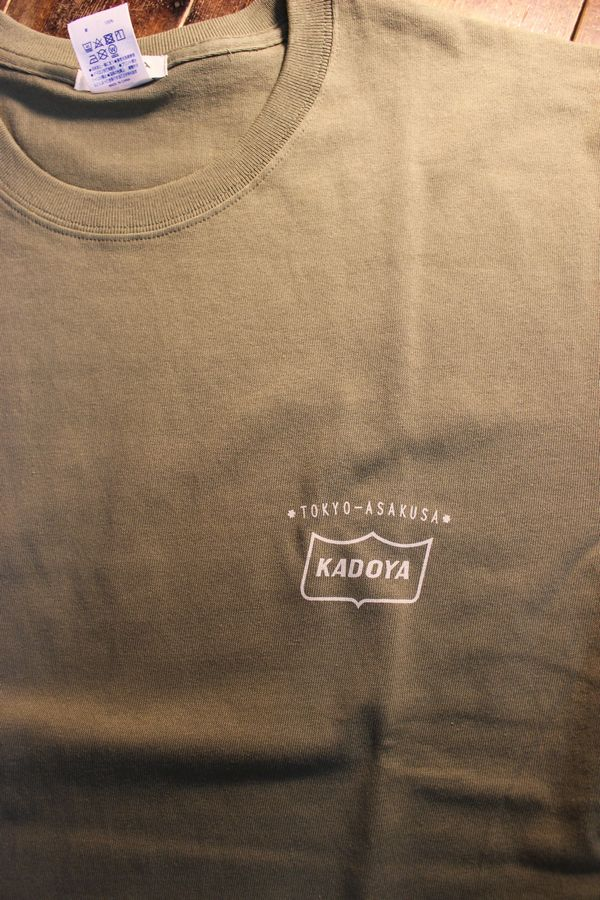 KADOYA(カドヤ) MONO RISE-T モノライズTシャツ オリーブ