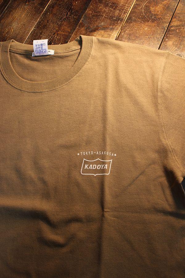 KADOYA(カドヤ) MONO RISE-T モノライズTシャツ ブラウン