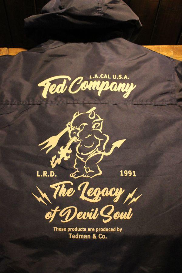 エフ商会 TEDCOMPANY テッドマン TEDMAN TSL-100 ユーティリティパーカ コーチジャケット ネイビー