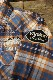 VANSON(バンソン) マドラス チェックシャツ NVSL-705 ブルー/オフ/ネイビー/オレンジ