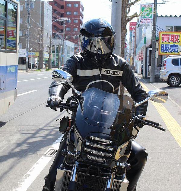 KADOYA(カドヤ) K'S LEATHER  CHASER チェイサー 肩・肘・脊椎プロテクター装備 ブラック×アイボリー